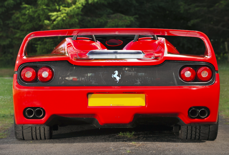 A Ferrari F50 like this one was involved in the crash (File picture: Rex)