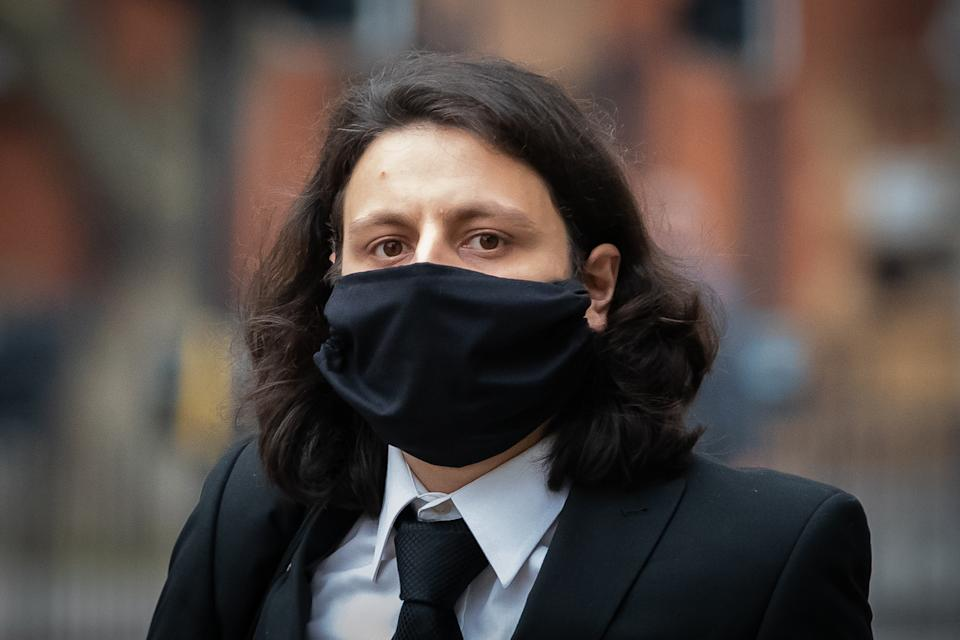 Nicholas Nelson arrives at Westminster Magistrates' Court in London for sentencing after pleading guilty to three counts of sending communications of an offensive nature in 2018.