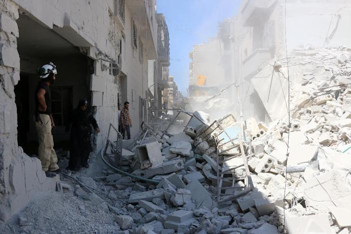 Aleppo has been the scene of intense fighting since the end of July when a major offensive on rebel-held districts was launched (AFP Photo/Thaer Mohammed)