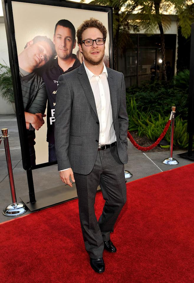 """<a href=""""http://movies.yahoo.com/movie/contributor/1804494942"""">Seth Rogen</a> at the Los Angeles premiere of <a href=""""http://movies.yahoo.com/movie/1810041785/info"""">Funny People</a> - 07/20/2009"""