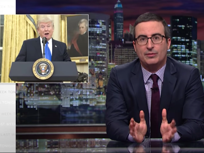 media john oliver trump cable news