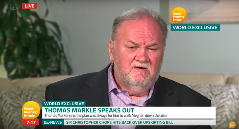 Thomas Markle reveals he hung up on Prince Harry, claims his interview with The Mail on Sunday is his last [Photo: ITV]