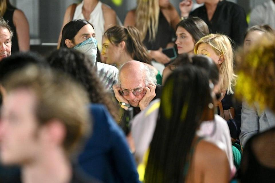 Comedian could be seen covering his ears while attending the STAUD runway show (Getty Images for NYFW: The Shows)