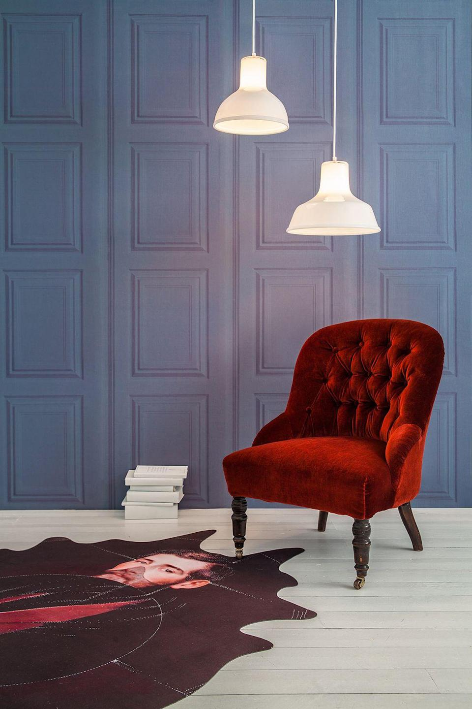 """<p>Channel gentlemen's clubs with a roll or two of this panelled-effect wallpaper. Its rich teal tones will add a sophisticated touch to any reading corner. Best served with a velvet armchair and a G&T.</p><p><strong>Young & Battaglia</strong> Petrol Panelling Wallpaper, £70 for 250cm, available at <a href=""""http://www.mineheart.com/petrol-panelling-wallpaper/"""" rel=""""nofollow noopener"""" target=""""_blank"""" data-ylk=""""slk:Mineheart"""" class=""""link rapid-noclick-resp"""">Mineheart</a></p>"""