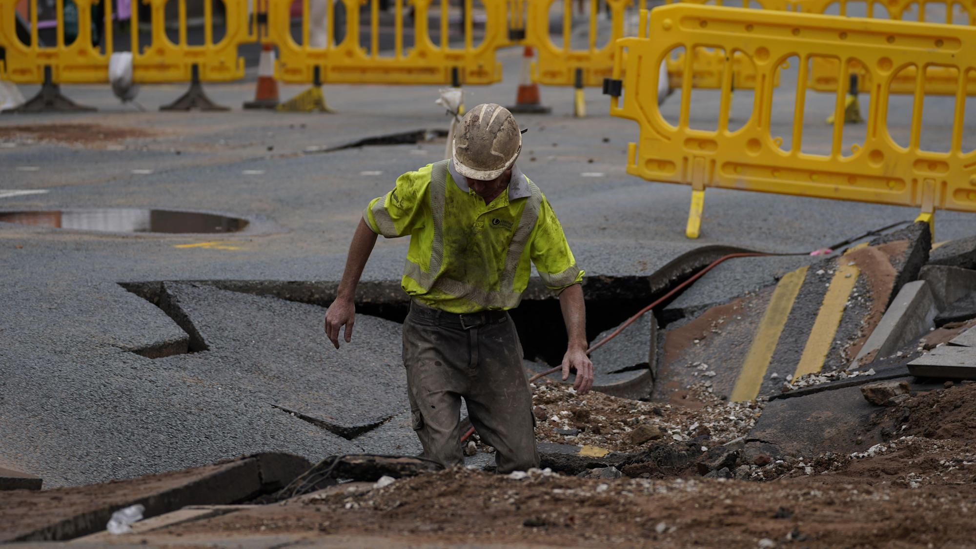 Sinkhole opens up in Liverpool