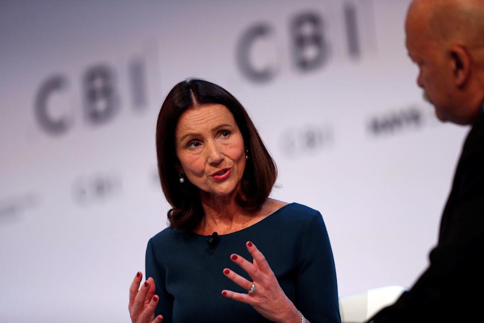 CBI Director General, Carolyn Fairbairn speaks at the annual Confederation of British Industry (CBI) conference in central London, on November 19, 2018. Photo: ADRIAN DENNIS/AFP/Getty Images