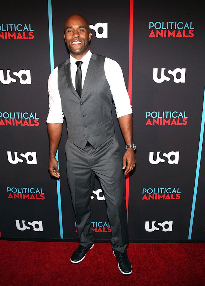 "LaMonica Garrett attends the ""Political Animals"" premiere at The Morgan Library & Museum on June 25, 2012 in New York City."