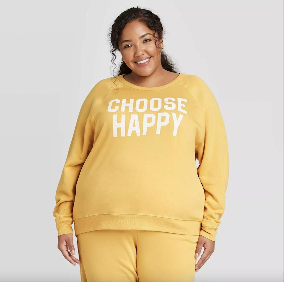<p>This <span>Grayson Threads Choose Happy Graphic Sweatshirt</span> ($15, originally $18) is so uplifting, it gives us a reason to smile.</p>