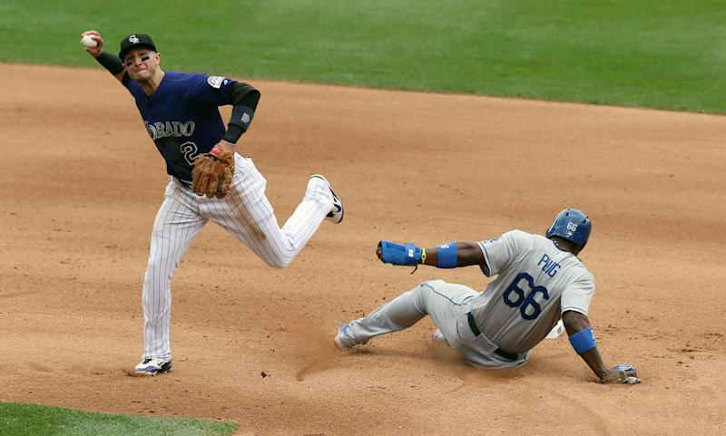Barnes, Rockies end 8-game skid, top Dodgers in 10