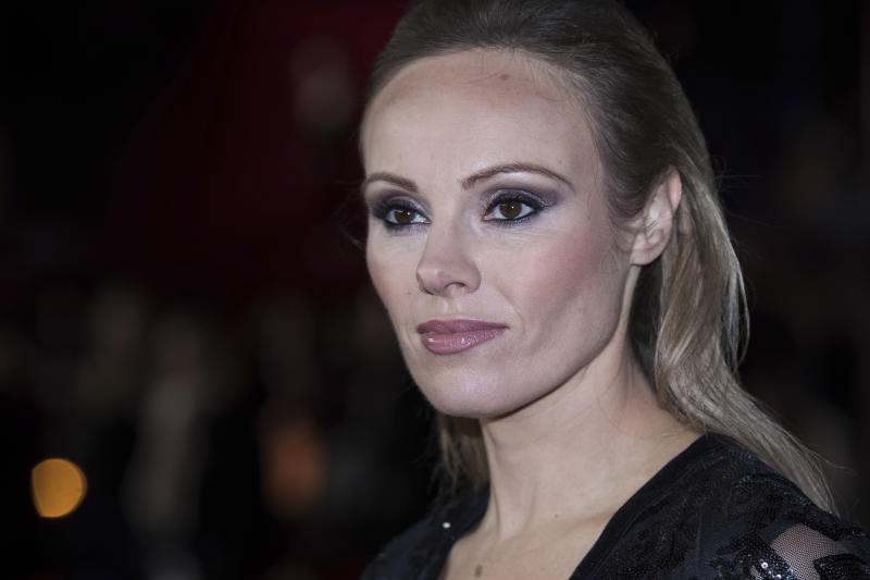 Michelle Dewberry poses for photographers upon arrival at the premiere of the film 'Darkest Hour', in London, Monday, Dec. 11, 2017. (Photo by Vianney Le Caer/Invision/AP)