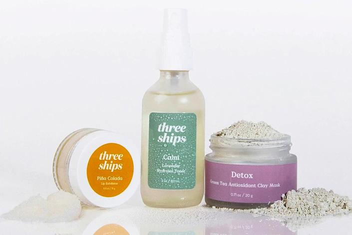 """<p>Valentine's Day falls on a Sunday this year, which means that you have every excuse to make it the most indulgent Self Care Sunday ever. Three Ships products uses only natural ingredients, and are paraben, sulfate, synthetic fragrance and phthalate free, which means that you don't have to worry about doing damage to your skin while you should be relaxing. </p> <p><strong>Buy It! </strong>Three Ships Self Care Bundle, $36; <a href=""""https://www.threeshipsbeauty.com/collections/all-products/products/self-care-kit"""" rel=""""nofollow noopener"""" target=""""_blank"""" data-ylk=""""slk:threeshipsbeauty.com"""" class=""""link rapid-noclick-resp"""">threeshipsbeauty.com</a></p>"""