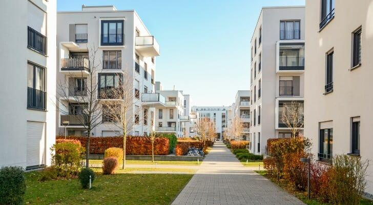a multi-unit housing complex can be comprised of co ops or condominiums