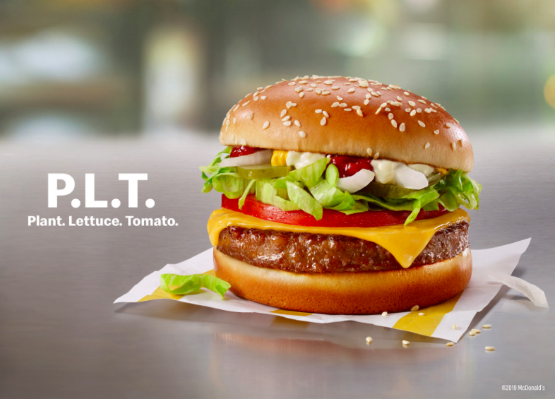 McDonald's unveils its own plant-based burger
