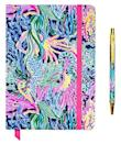 """<p><strong>Lilly Pulitzer</strong></p><p>amazon.com</p><p><strong>$20.95</strong></p><p><a href=""""https://www.amazon.com/dp/B08F2Q4Y4R?tag=syn-yahoo-20&ascsubtag=%5Bartid%7C2140.g.33503014%5Bsrc%7Cyahoo-us"""" rel=""""nofollow noopener"""" target=""""_blank"""" data-ylk=""""slk:Shop Now"""" class=""""link rapid-noclick-resp"""">Shop Now</a></p><p>A beautiful notebook with a matching pen is the perfect present for a boss or coworker. It'll look just as pretty in their purse as it will on their desk. </p>"""