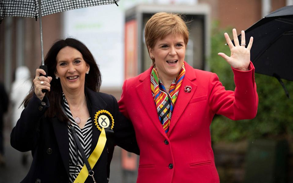 Nicola Sturgeon with Margaret Ferrier ahead of the 2019 general election - Jane Barlow/PA