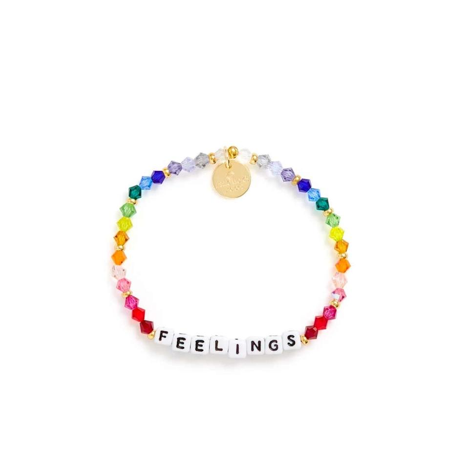 "Feels—we've all got 'em. Help your admittedly emo friend embrace hers with this colorful bracelet that will brighten up neutral wintertime looks. $20, Ban.do. <a href=""https://www.bando.com/products/feelings-bracelet"">Get it now!</a>"