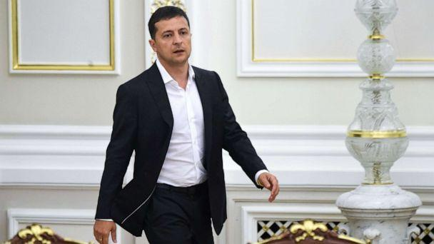 PHOTO: Ukrainian President Volodymyr Zelensky arrives for a meeting with the new members of the government and new president of Parliament, in Kiev on Sept. 2, 2019. (Sergei Supinsky/AFP/Getty Images)