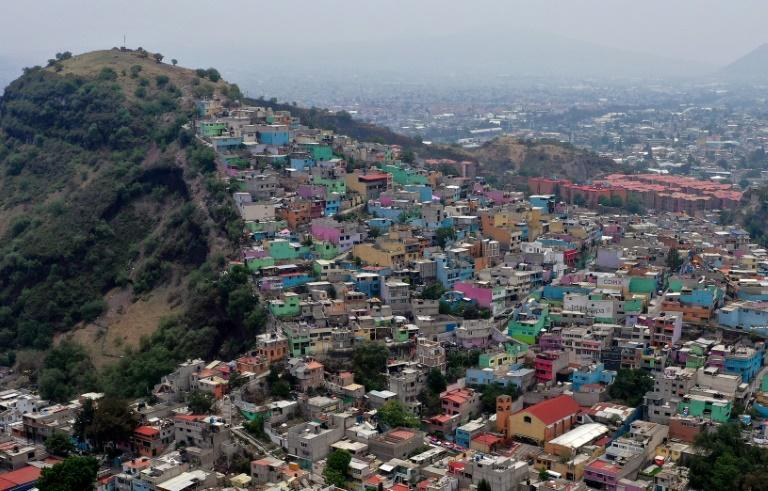 An aerial view of Iztapalapa, one of Mexico City's poorest neighborhoods, where the coronavirus has killed thousands of people
