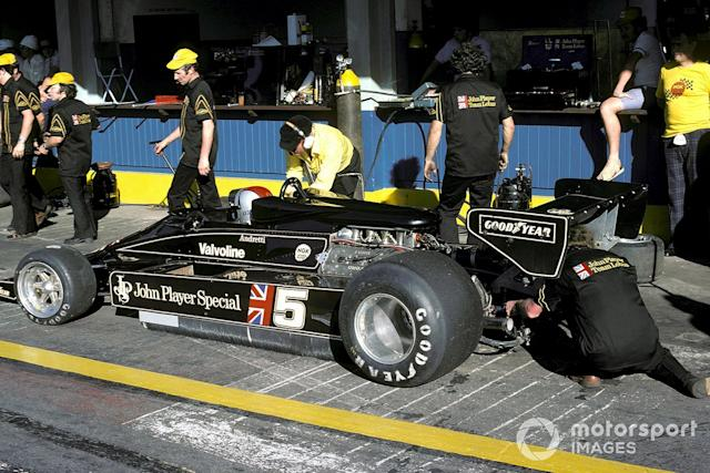 """Mario Andretti, Lotus 78 survived an exploding fire extinguisher <span class=""""copyright"""">David Phipps</span>"""