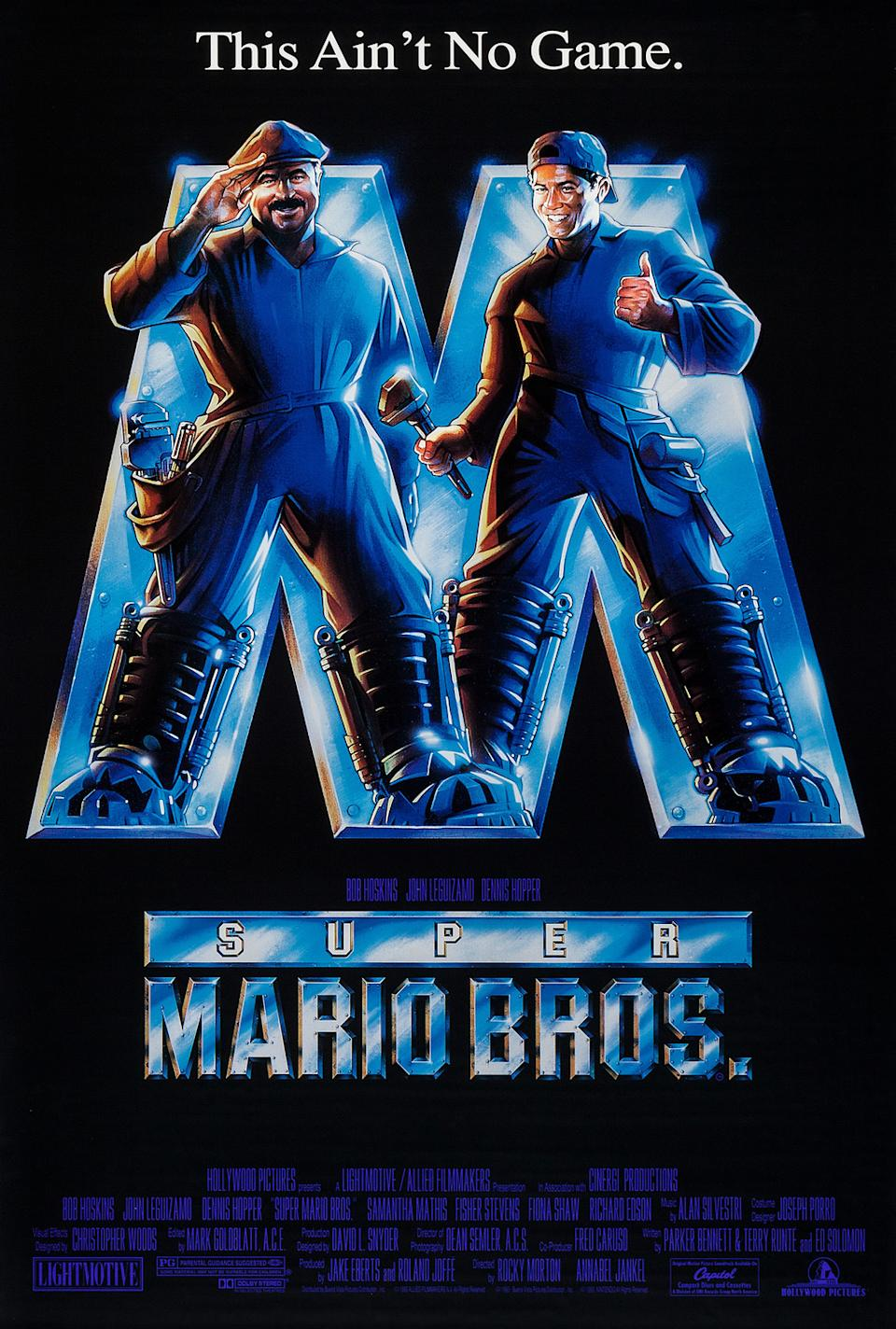 The poster for Super Mario Bros.
