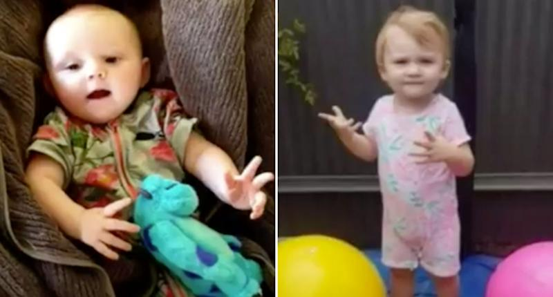 Chloe-Ann, 1, and sister Darcey-Helen, 2, are pictured.