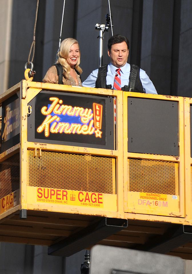 "<a href=""http://movies.yahoo.com/movie/contributor/1808454413"">Sienna Miller</a> and <a href=""http://movies.yahoo.com/movie/contributor/1807455762"">Jimmy Kimmel</a> at the Los Angeles premiere of <a href=""http://movies.yahoo.com/movie/1809993532/info"">G.I. Joe: The Rise of Cobra</a> - 08/06/2009"