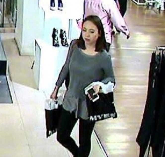 CCTV showed Ms Leng shopping at Pitt Street Mall on Thursday. Photo: NSW Police