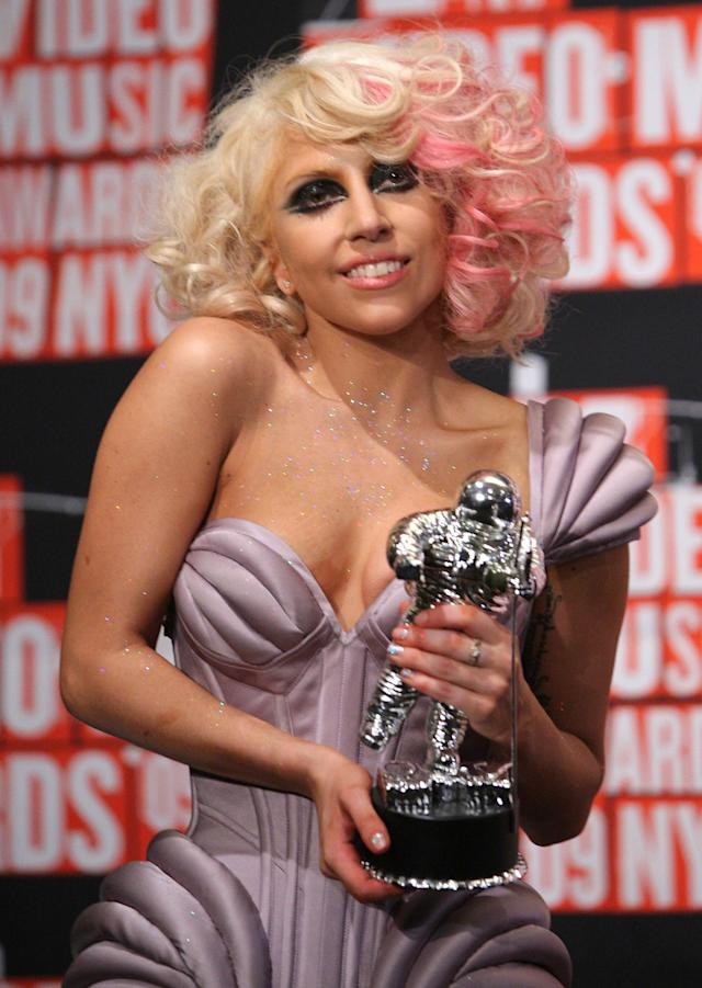<p>Lady Gaga, eight years ago. (The other female solo artists who are nominated this year are Julia Michaels, SZA, and Young M.A.)<br> (Photo: Getty Images) </p>