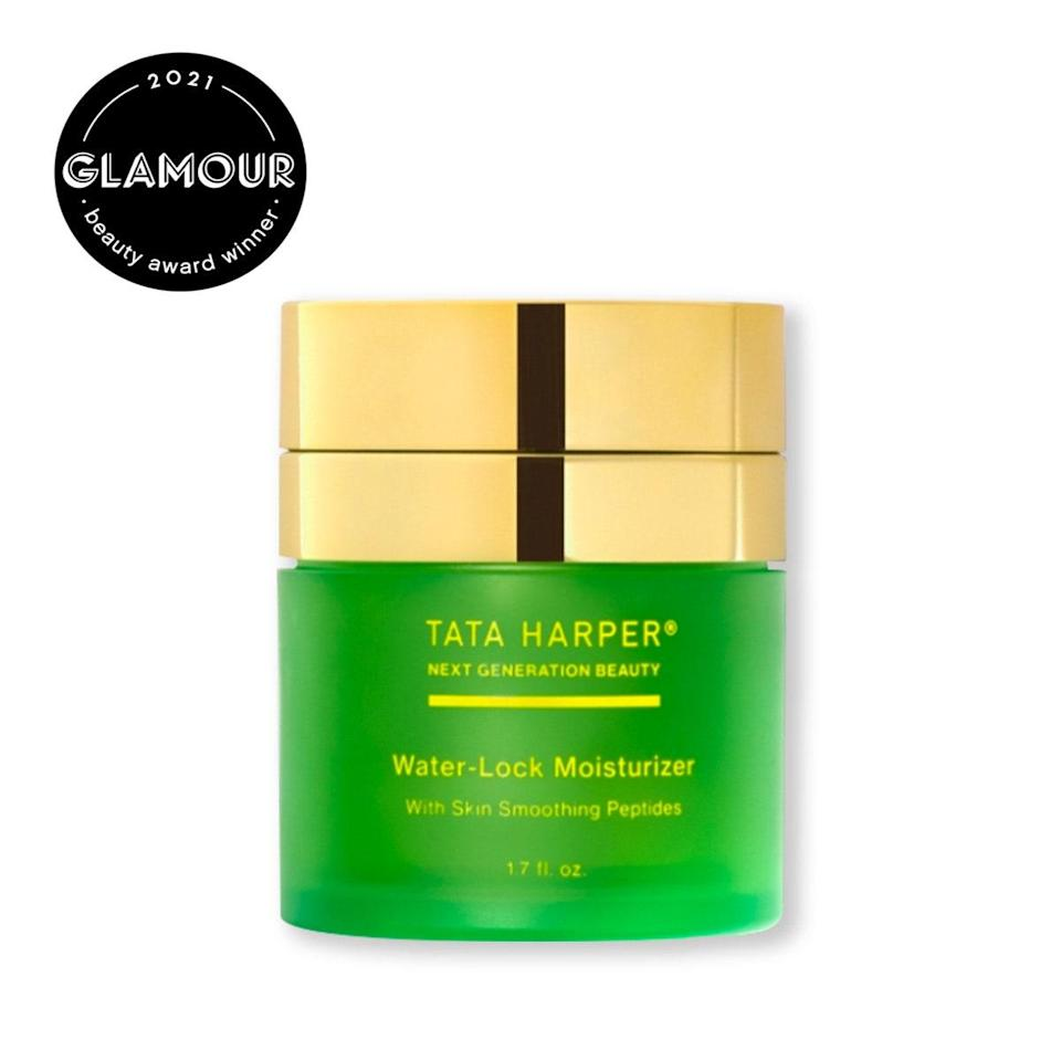 "While all of Tata's Harper's products come in glass jars, for the Water-Lock Moisturizer the brand took things a step further with a totally refillable jar. What's inside is just as good, the gel cream is super lightweight, but is packed with peptides to moisturize and plump skin. $68, Tata Harper. <a href=""https://shop-links.co/1738245590252173352"" rel=""nofollow noopener"" target=""_blank"" data-ylk=""slk:Get it now!"" class=""link rapid-noclick-resp"">Get it now!</a>"