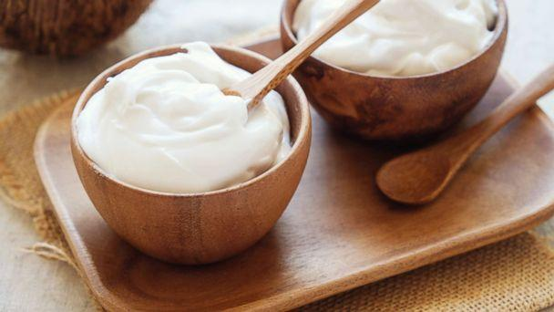 PHOTO: Dairy free organic coconut yogurt in wooden bowl is pictured in this undated photo. (Getty Images)