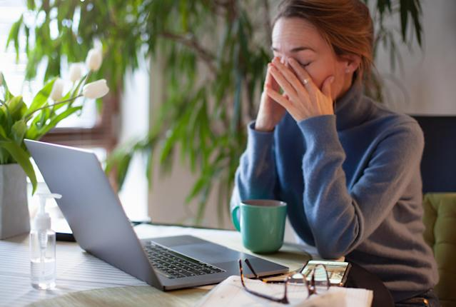Working from home amid the coronavirus outbreak means the average Brit is putting in an extra 28 hours of overtime a month, according to a survey. (Getty)