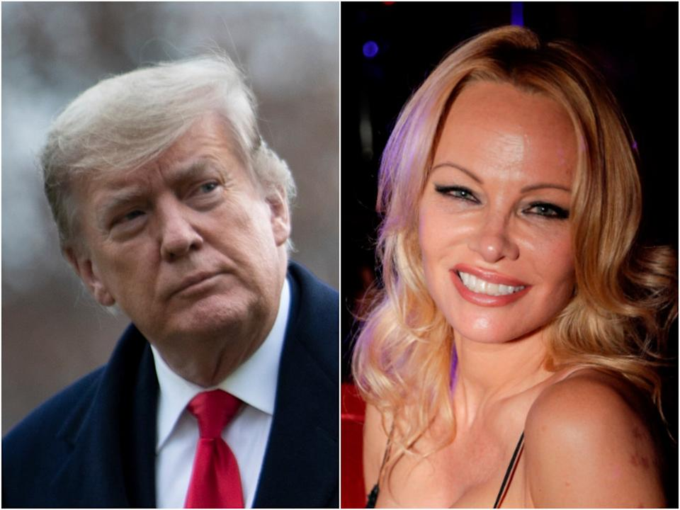 Donald Trump and Baywatch star Pamela Anderson (Getty)
