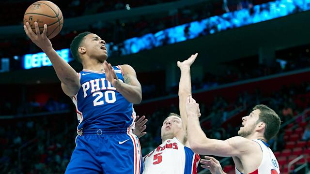 Markelle Fultz has been ruled out for the Sixers' next three games because of a right shoulder issue. (AP)