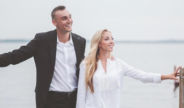 Sam Dekker and Olivia Harlan decided to ask wedding guests to make donations to the Children's Cancer Family Foundation instead of buying them gifts, and they have been blown away by the generous response. (Photo courtesy of the Children's Cancer Family Foundation)