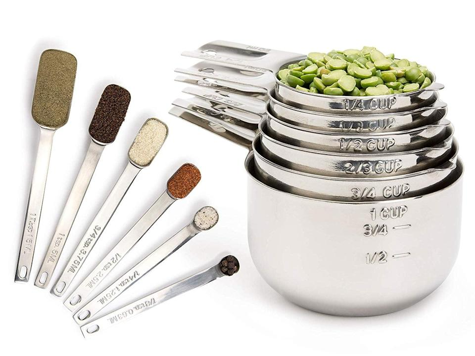 <p>Feel like a pro with this luxe <span>Simply Gourmet Measuring Cups and Measuring Spoons Set</span> ($30).</p>