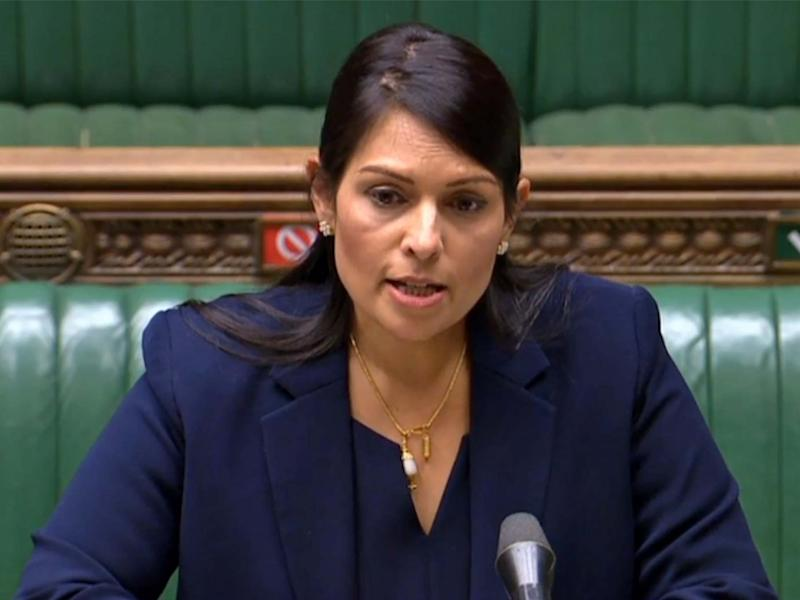 The home secretary addresses the Commons: AFP/Getty