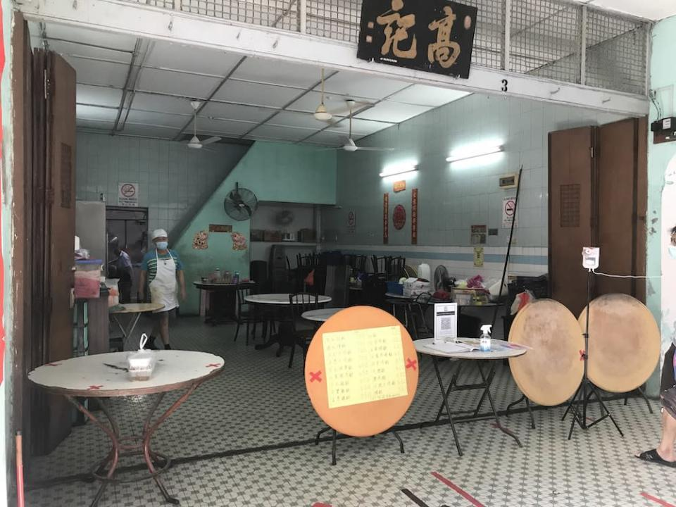 Restoran Wong Koh Kee may reopen for dine-in when the other restaurants in the area do so.