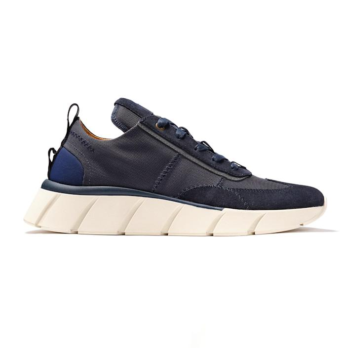 """Handmade in Italy, these leather and suede kicks are a definite step up from the tattered <a href=""""https://www.glamour.com/gallery/best-workout-shoes-for-women?mbid=synd_yahoo_rss"""" rel=""""nofollow noopener"""" target=""""_blank"""" data-ylk=""""slk:workout shoes"""" class=""""link rapid-noclick-resp"""">workout shoes</a> he wears ~everywhere~. $285, Nera. <a href=""""https://nerashop.com/products/model-one-fang"""" rel=""""nofollow noopener"""" target=""""_blank"""" data-ylk=""""slk:Get it now!"""" class=""""link rapid-noclick-resp"""">Get it now!</a>"""