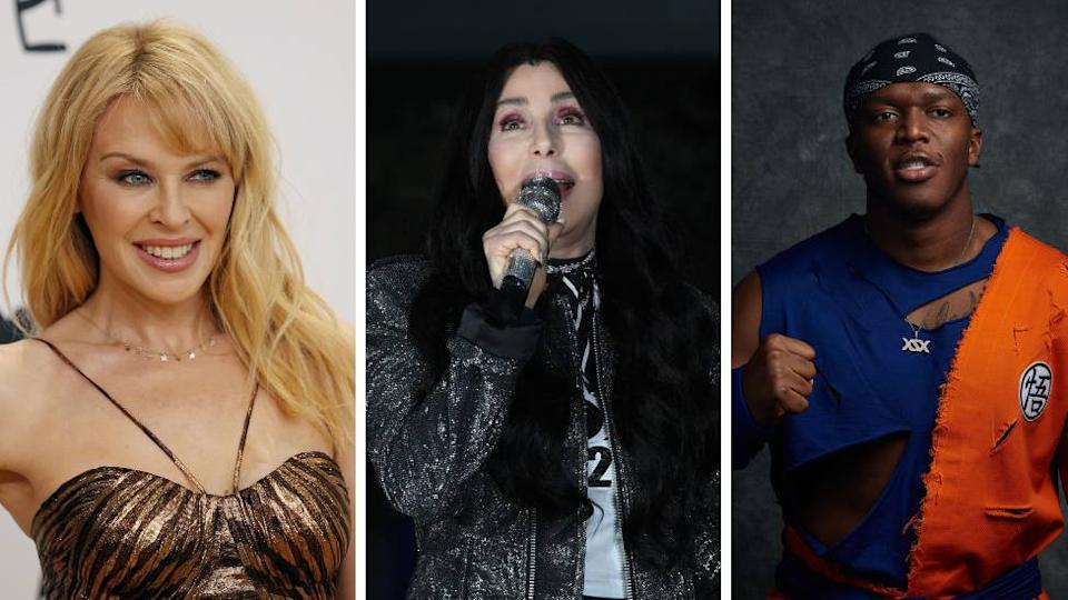Kylie Minogue, Cher and KSI all appear on the charity song