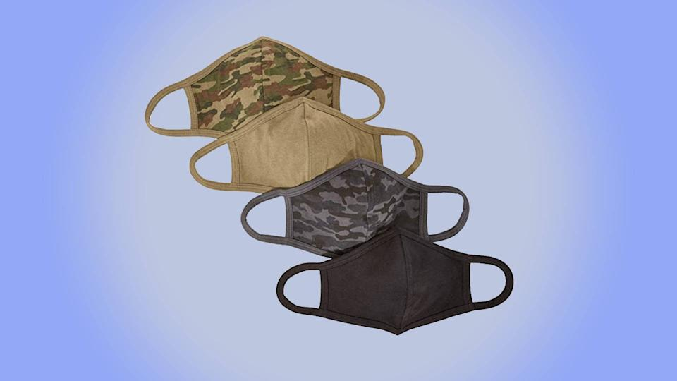 Quality Durables 4-Pack Reusable Face Covering (Photo: Amazon)