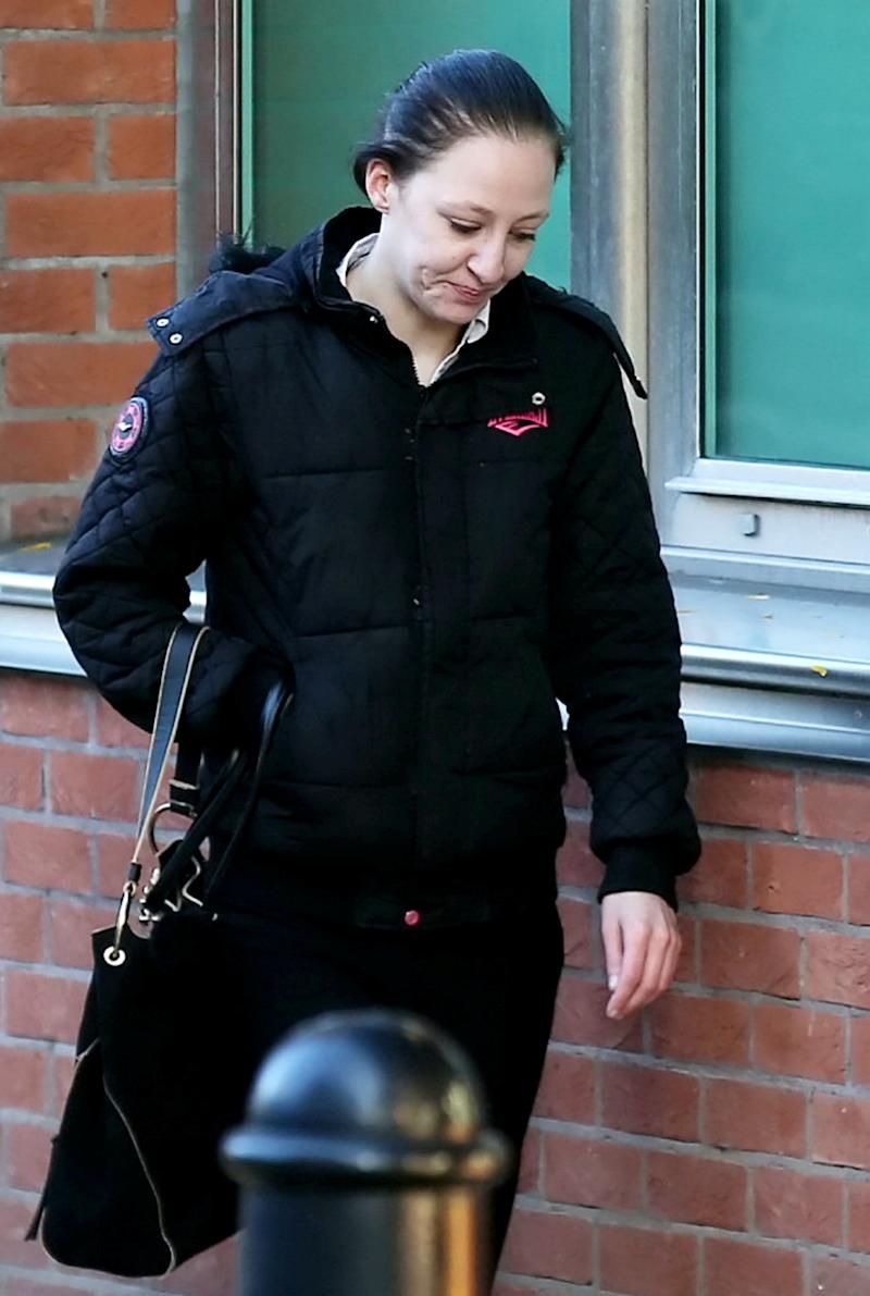 Samantha Gregson, 25, charged with causing or allowing her death of a child, arrives at Sheffield Crown Court, October 02, 2019. Mia Gregson 22-months-old, died after becoming seriously ill at her home in Gipsyville, west Hull, on February 13, 2014. See SWNS story SWLEmurder.