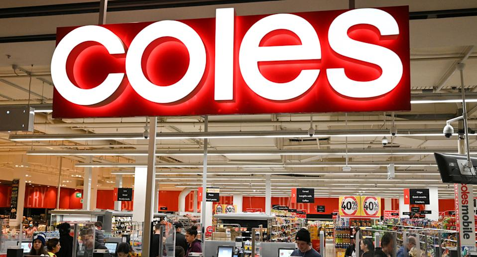 Coles store as a shopper shares theory on when items are marked down.