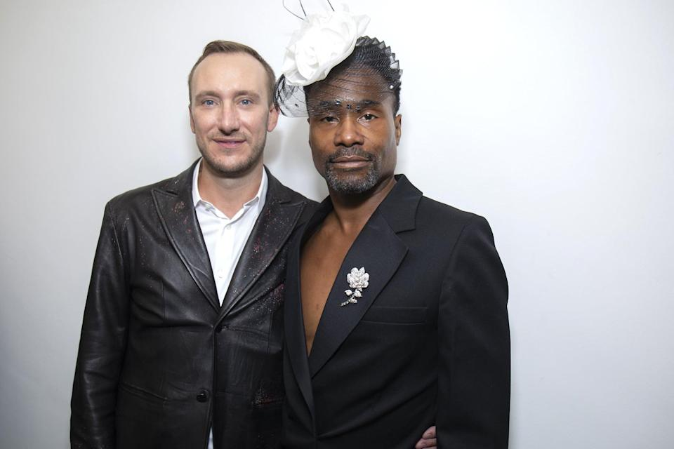 """<p>Porter-Smith grew up near Dallas and, like Porter, was raised in a household that wasn't exactly accepting of his sexual orientation. </p> <p>""""<a href=""""http://people.com/theater/billy-porter-marries-soul-mate-adam-smith/"""" class=""""link rapid-noclick-resp"""" rel=""""nofollow noopener"""" target=""""_blank"""" data-ylk=""""slk:We both grew up in households"""">We both grew up in households</a> where who we are is labeled an 'abomination,'"""" Porter told <strong>People</strong> at their <a class=""""link rapid-noclick-resp"""" href=""""https://www.popsugar.com/latest/Wedding"""" rel=""""nofollow noopener"""" target=""""_blank"""" data-ylk=""""slk:wedding"""">wedding</a>. """"The thought of marriage, there was no context for it - there was no dreaming about it because there was no context to dream; it was unspoken and very clear that the sanctity of marriage was not for us. So to see that come around, to see that tide turned, it still takes my breath away.""""</p>"""