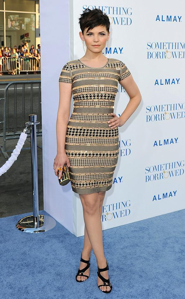 "<a href=""http://movies.yahoo.com/movie/contributor/1808398021"">Ginnifer Goodwin</a> attends the Los Angeles premiere of <a href=""http://movies.yahoo.com/movie/1810158033/info"">Something Borrowed</a> on May 3, 2011."