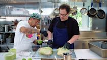 """<p>Jon Favreau and chef Roy Choi experiment with different recipes and dine with some of their Hollywood friends in this cooking show. This is the show where we learned Gwyneth Paltrow didn't know she was in a <em>Spider-Man</em> movie, so who knows what a new season might bring. </p> <p><a href=""""https://www.netflix.com/title/81028317"""" rel=""""nofollow noopener"""" target=""""_blank"""" data-ylk=""""slk:Available to stream on Netflix"""" class=""""link rapid-noclick-resp""""><em>Available to stream on Netflix</em></a></p>"""