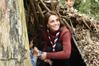 <p>The Duchess of Cambridge wasn't afraid to get her hands dirty during a visit to the Scouts' headquarters in Gilwell Park.</p>