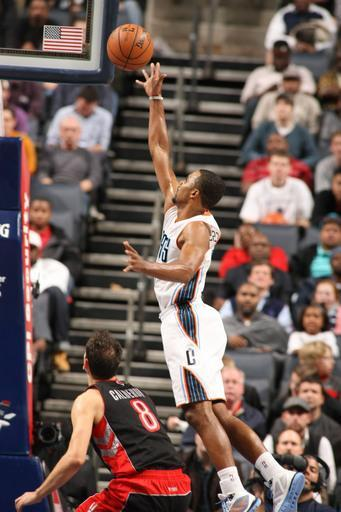 CHARLOTTE, NC - NOVEMBER 21: Ramon Sessions #7 of the Charlotte Bobcats shoots against the Toronto Raptors at the Time Warner Cable Arena on November 21, 2012 in Charlotte, North Carolina. (Photo by Kent Smith/NBAE via Getty Images)
