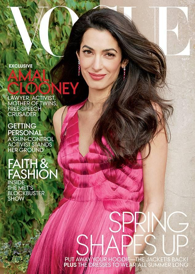Amal Clooney covers <em>Vogue</em>. (Photo: Vogue)