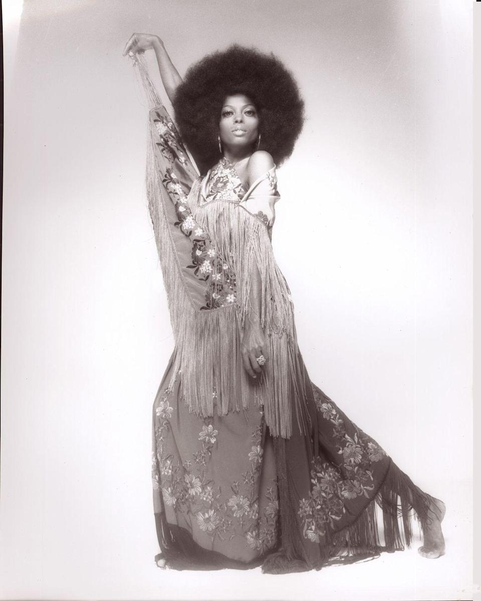 <p>By the mid-'70s, the performer had firmly earned a place as one of fashion's biggest icons thanks to her over-the-top red carpet looks and glamorous stage outfits.</p>