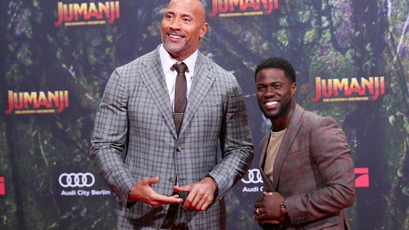 Dwayne Johnson Gives Health Update on Kevin Hart as He Jokes About Visiting Him With Toys